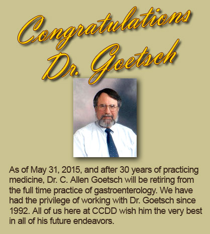 Dr. Goetsch Retiring